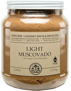 India Tree | Light Muscovado Sugar | Canister 2.8 Lb | Ingredient:  Unrefined Cane Sugar