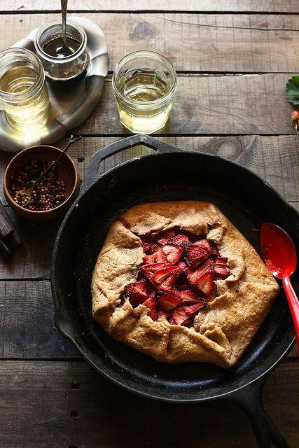 honey balsamic strawberry galette