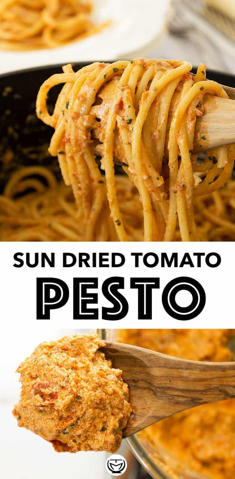 SUN DRIED TOMATO PESTO PASTA (RED PESTO)