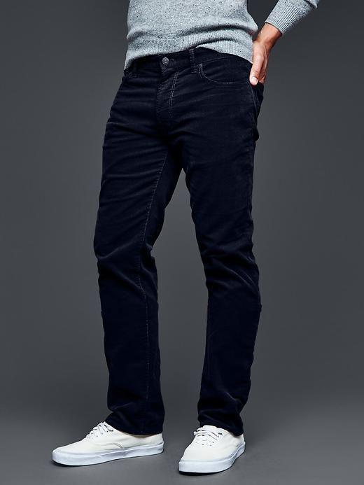 663561072b GAP Men Cords Black Fill Straight Fit Pants Navy Blue Cotton 32*32 534321  $59.95 #GAP #Corduroys #GAP Men Cords