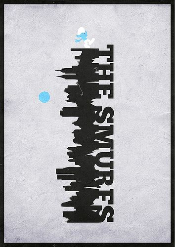The Smurfs (2011) ~ Minimal Movie poster by Mads Svanegaard #amusementphile