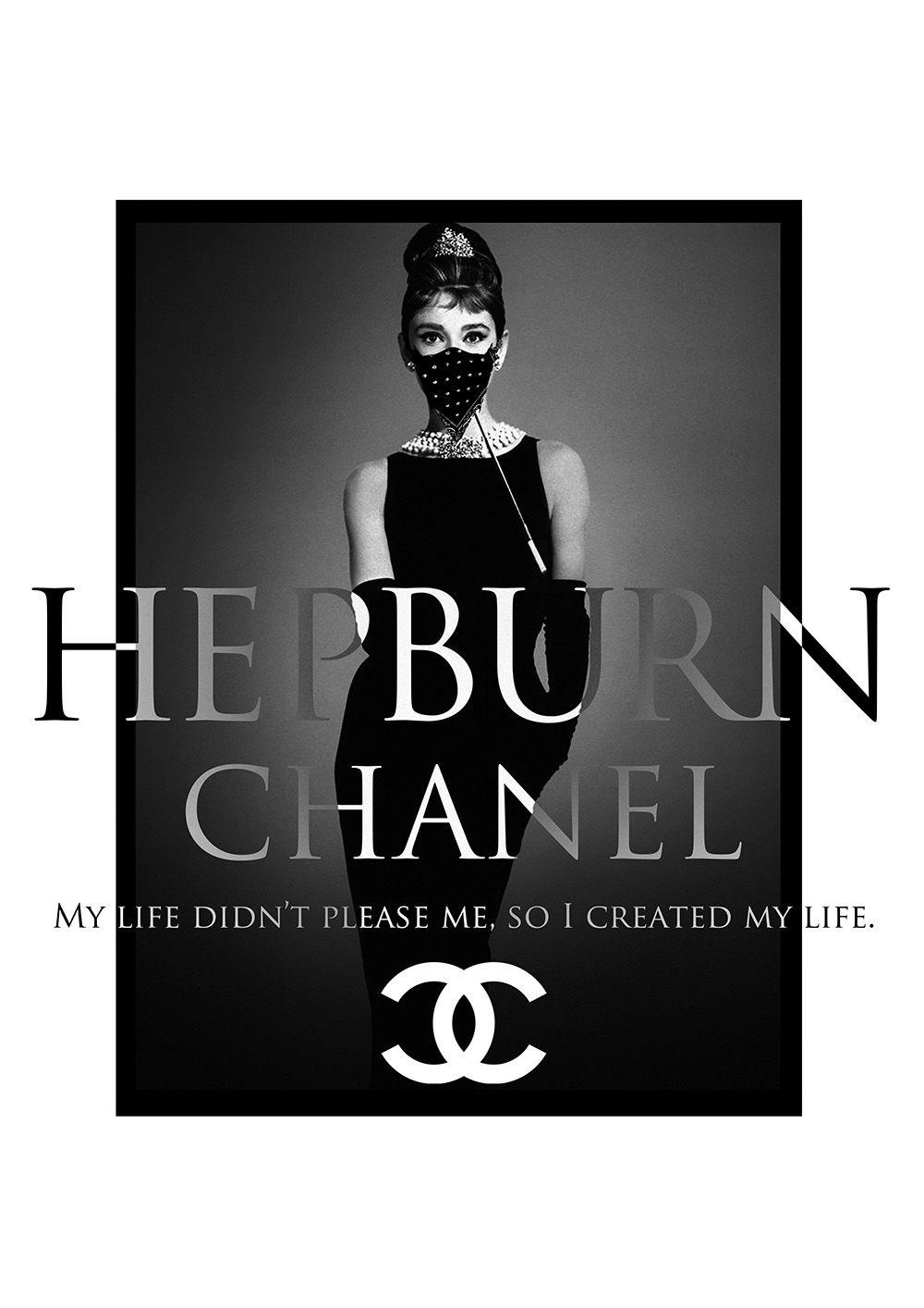 Chanel Audrey Hepburn オードリー ヘップバーン キャンバスアート