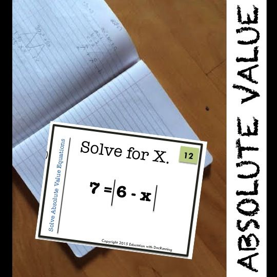 Solve Absolute Value Equations Practice And Review Ccss Hsa Rei D 11 Absolute Value Equations Absolute Value Equations
