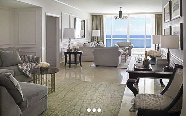 Acqualina Resort Spa On The Beach Miami Beach Luxury Resort Kid Themed Miami Hotels 2 Bedroom Suite H Hotel Suite Bedroom Luxury Living Room Hotel Suites