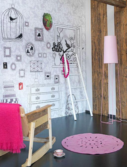 Nog een lege muur in de kamer waar hoognodig iets mee moet gebeuren nice idea pinterest - Muur kamer kind ...