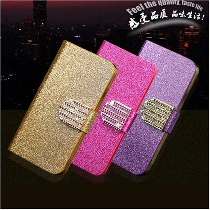 For Sony Xperia M5 Cases Fashion Women Crystal Diamond Flip Leather Phone  Cover For Sony Xperia 1b17652397