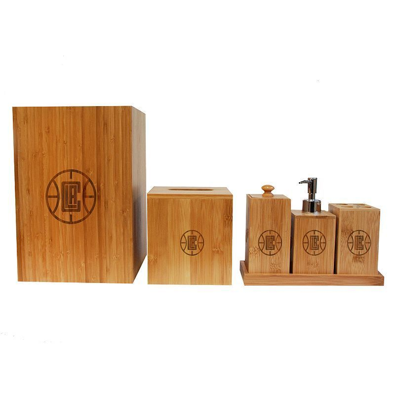 Los Angeles Clippers Piece Bamboo Bathroom Accessories Set