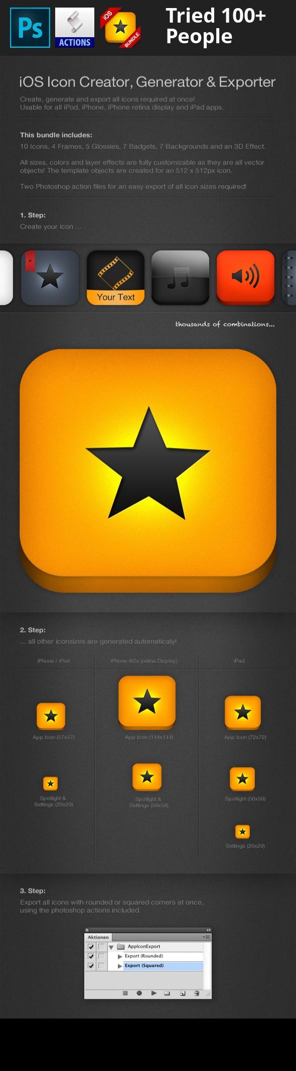 iOS Bundle Icon Creator, Generator & Exporter Ios app