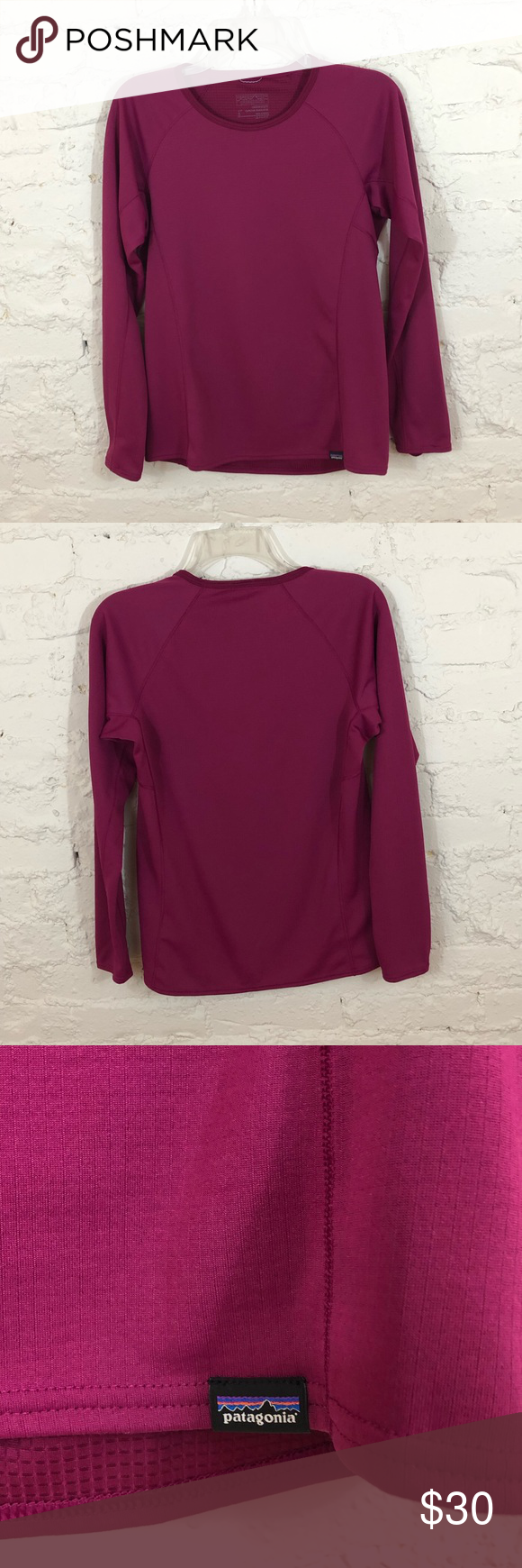 Patagonia Midweight Caplene Baselayer Top Midweight Patagonia Womens Maroon Color [ 1740 x 580 Pixel ]