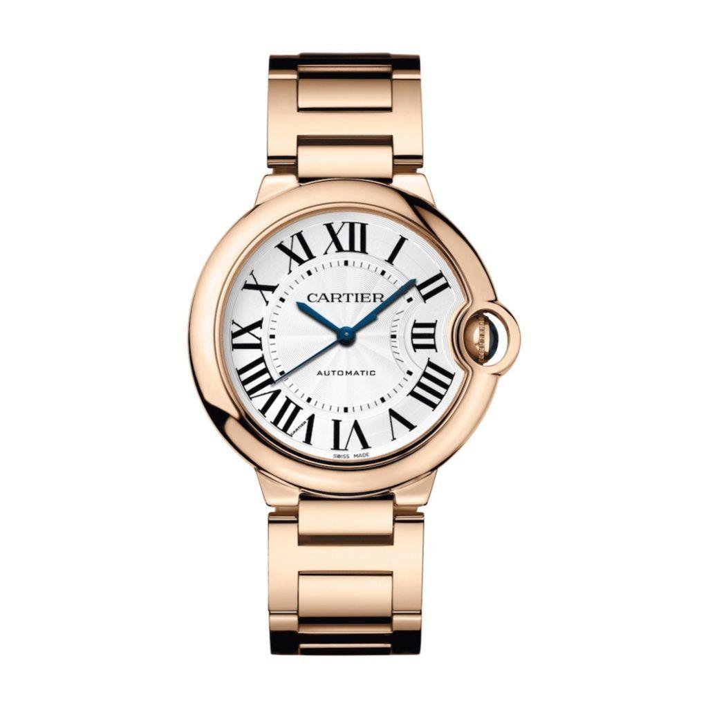 Ballon Bleu De Cartier In Pink Gold 36mm Ladies Watch