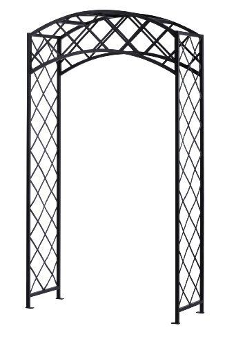 Panacea Products Arched Lattice Arbor Black By Panacea