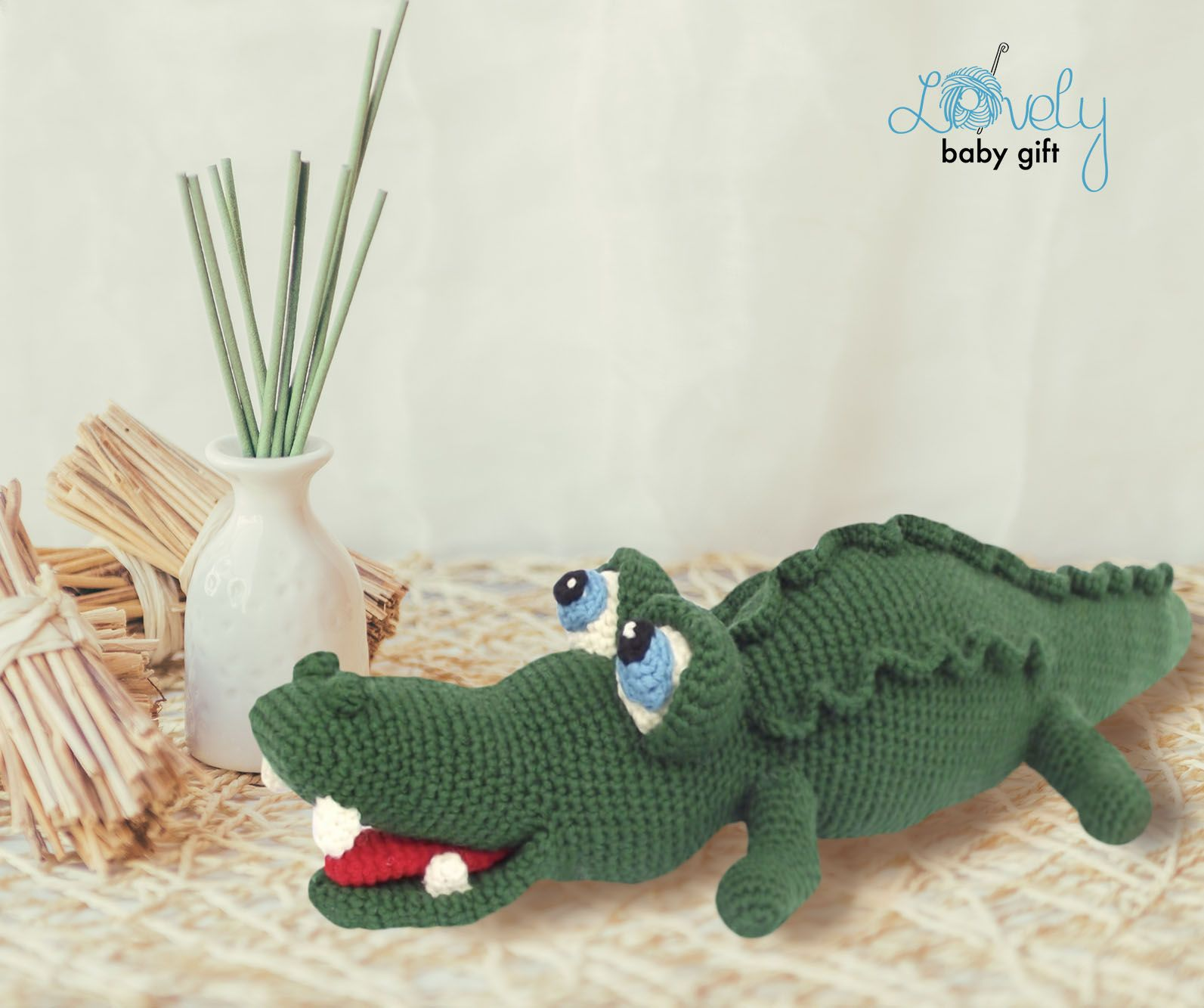 Amigurumi Pattern Crochet, Alligator, Amigurumi Animal, Crocodile ...
