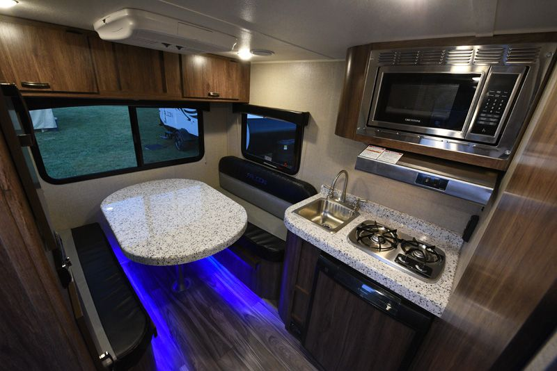 Falcon F Lite Interior Ultra Light Travel Trailers Dinette