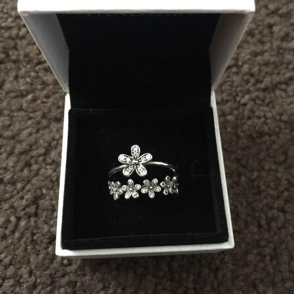 390c89b1248d6 Pandora Authentic dazzling daisy Rings 9.25 silver PANDORA DAZZLING ...