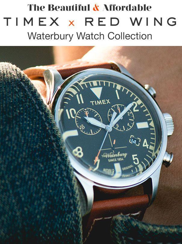 b2fe3aee9f31 The Beautiful   Affordable Timex x Redwing Waterbury Watch ...