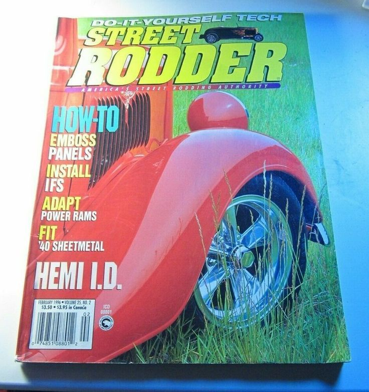 February 1996 Do  It  Yourself Tech Street Rodder Magazine  Emboss Panels  For sale
