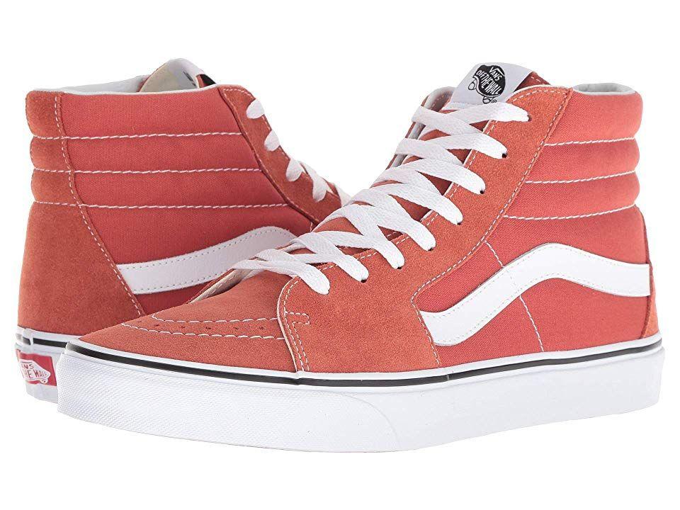 22c5e08938 Vans SK8-Hitm (Hot Sauce True White) Skate Shoes. Keep it old school ...