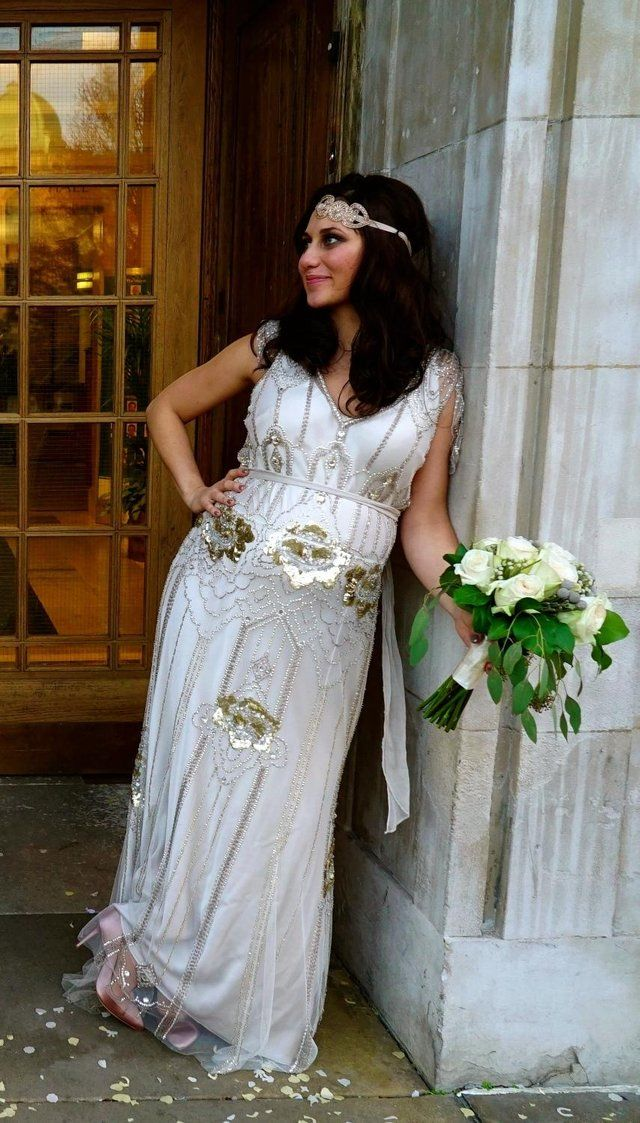 Jenny Packham Eden Plat- Size 14/16 tailored 5ft3\