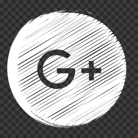 White Scribble Pencil Style Round Google Plus Icon Pencil Fashion Icon Scribble
