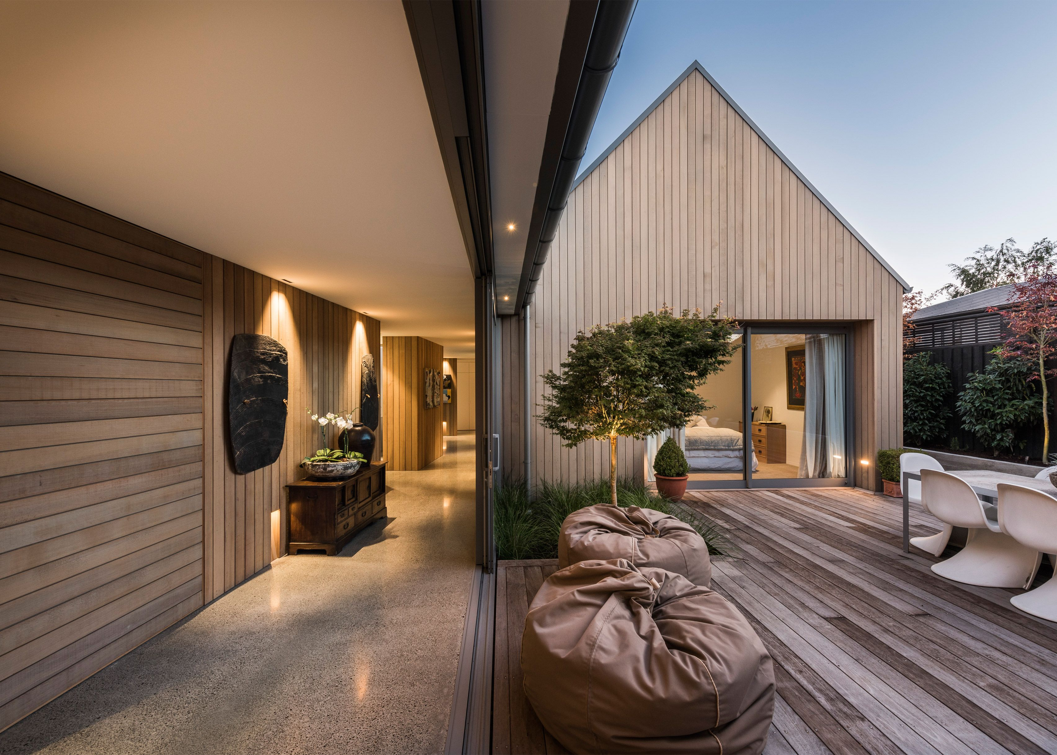 Case Ornsby completes cedar-clad house in Christchurch divided up by ...