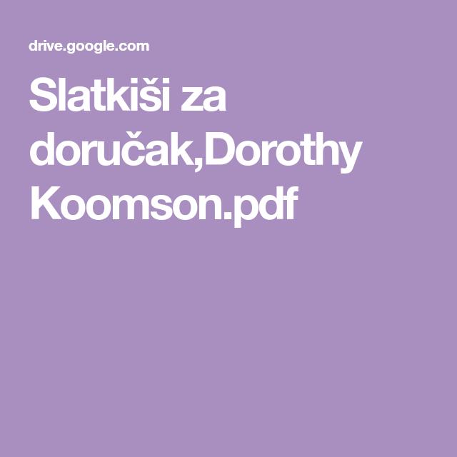 Slatki U0161i Za Doru U010dak Dorothy Koomson Pdf