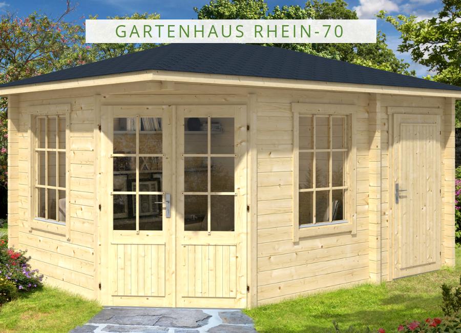 5-Eck Gartenhaus Modell Rhein ISO | Gartenhaus, 5 eck ...