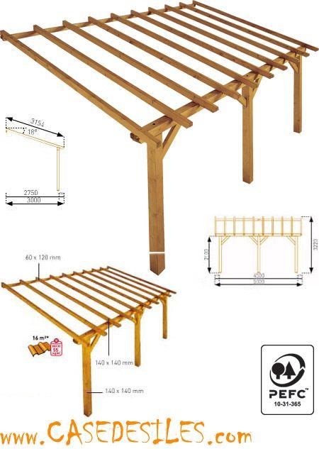 auvent de terrasse bois 1 pan adossant 16m garanti 10ans prado grand auvent de terrasse. Black Bedroom Furniture Sets. Home Design Ideas