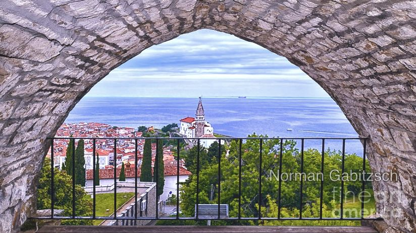 Walls Of Piran By Norman Gabitzsch Travel Art Some Beautiful Images Photography Gallery