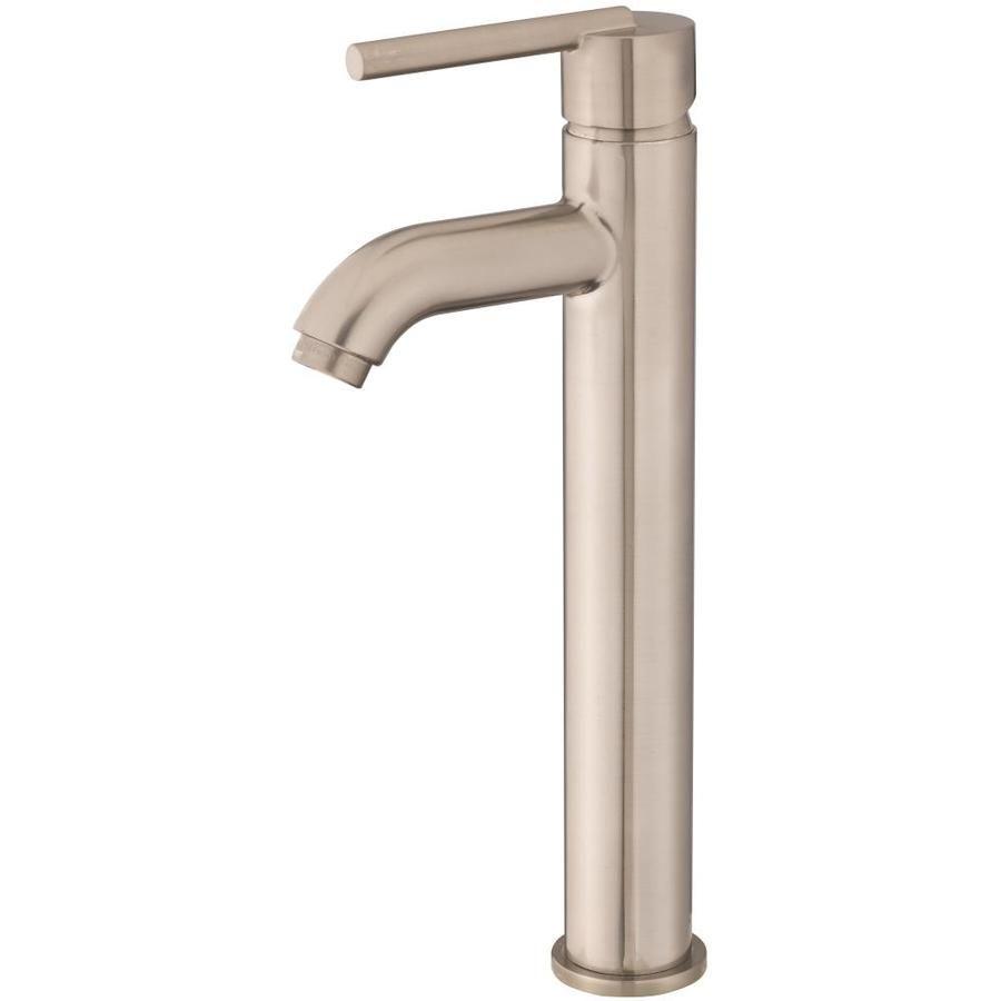 Jacuzzi Faucets Brushed Nickel 1-Handle Vessel Bathroom Sink Faucet ...