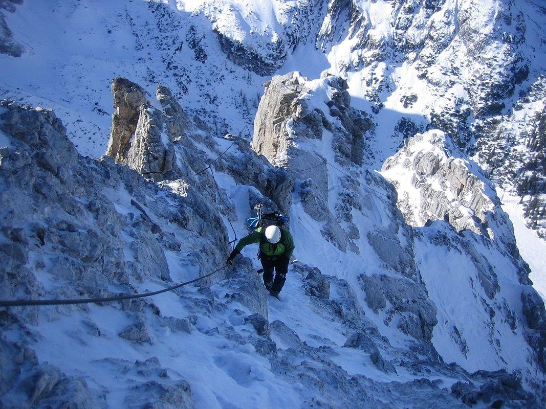 Klettersteig Tajakante : Klettersteig tajakante winterbergstiegen rund um das zugspitzmassiv