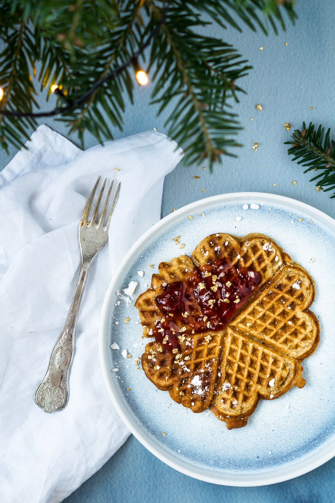 Photo of Crustacean waffles – rice porridge waffles. Lovely waffles made from a residual rice porridge and …
