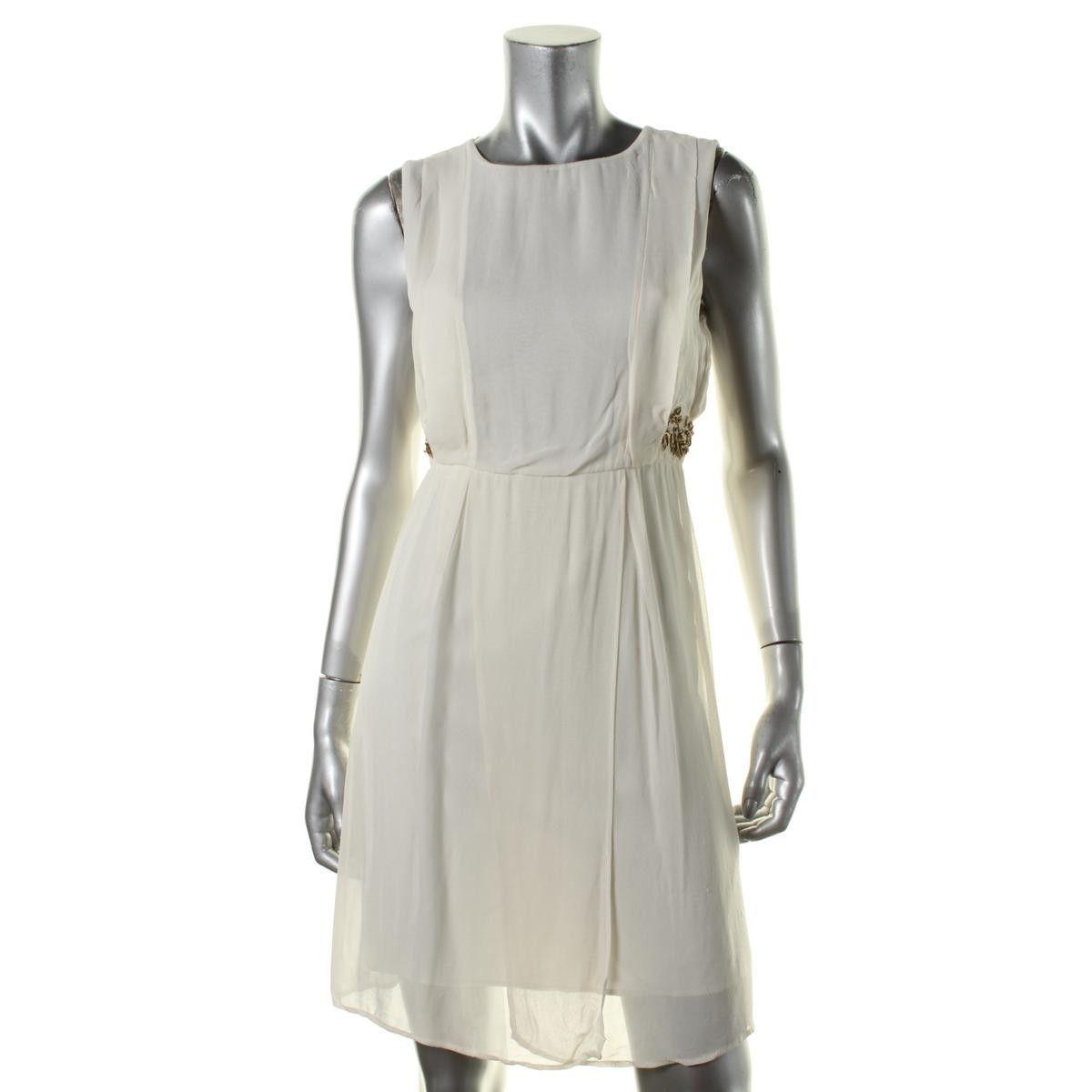 Zara Basic Womens Sleeveless Embellished Casual Dress