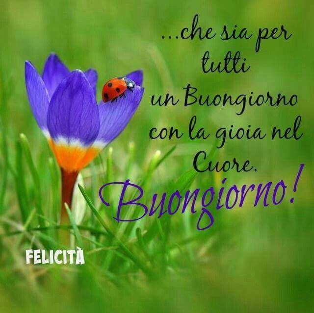 Buongiorno Di Felicità Italy Citazioni Buongiorno