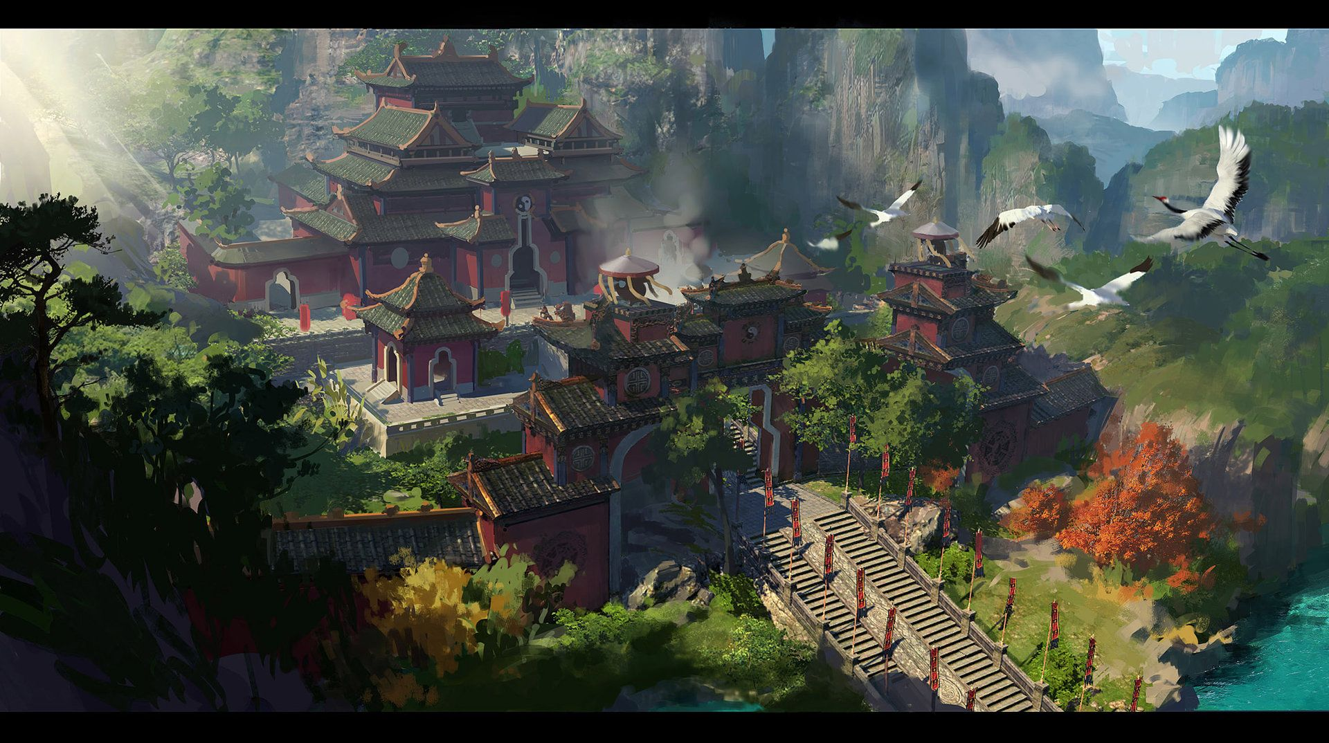 ArtStation - China Taoist temple2, Dawnpu —Art vision studio