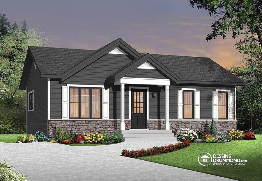 Plan abordable pour première maison Small house plans, House