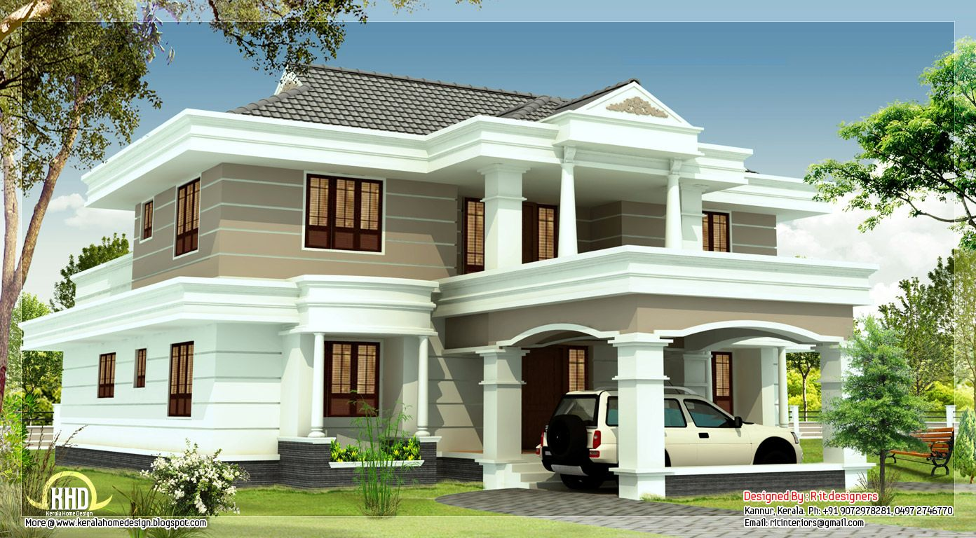 2540 Sq Feet Beautiful House Elevation   Kerala Home Design And . Part 54