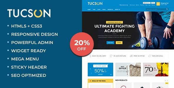 Tucson - Sports, Fitness and Gym Responsive WooCommerce WordPress Theme nulled #envatothemeforest #e...