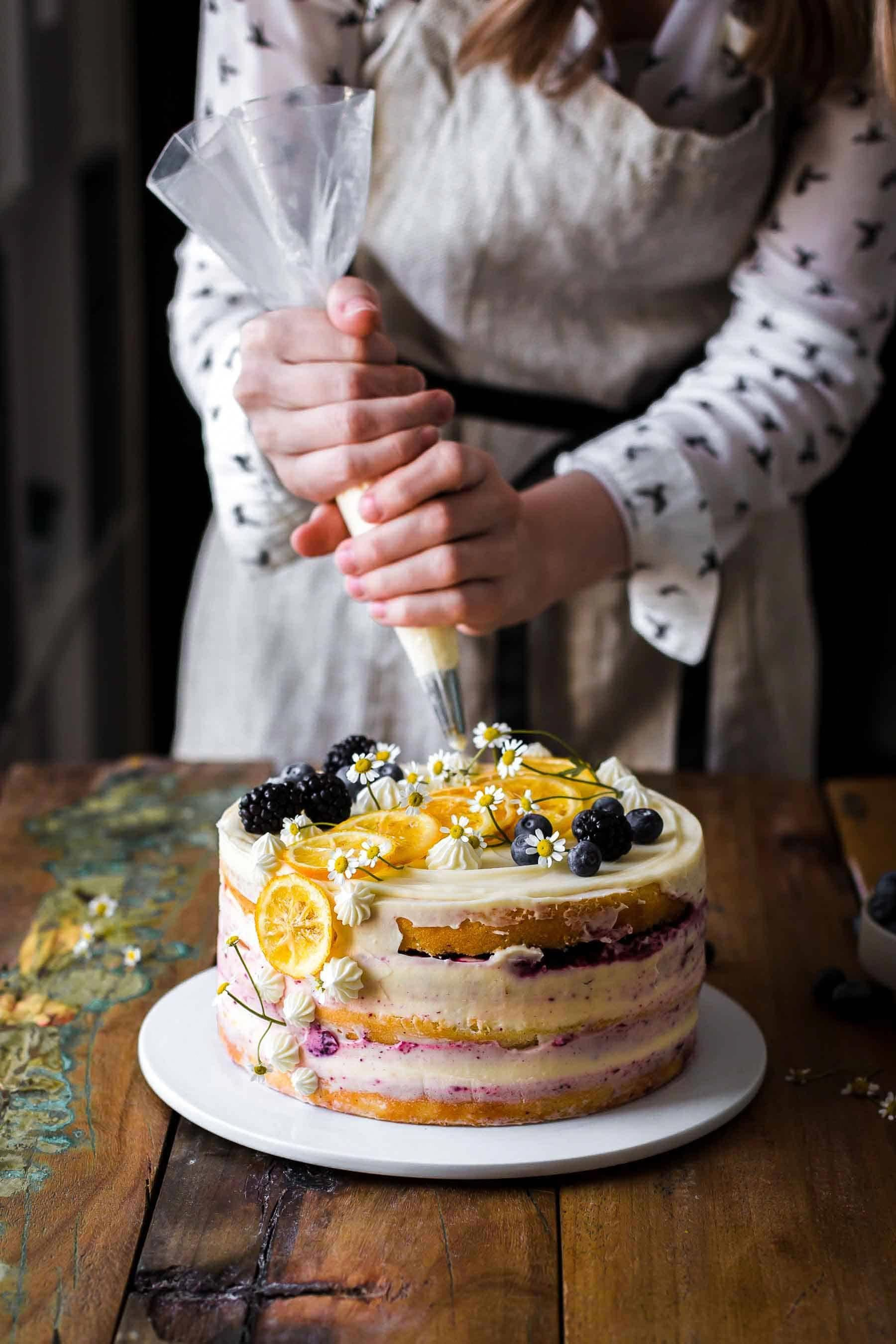 A Vol Au Vent With Langoustines Healthy Food Mom Recipe Blueberry Lemon Cake Recipe Blueberry Cake Recipes Lemon Cake Recipe