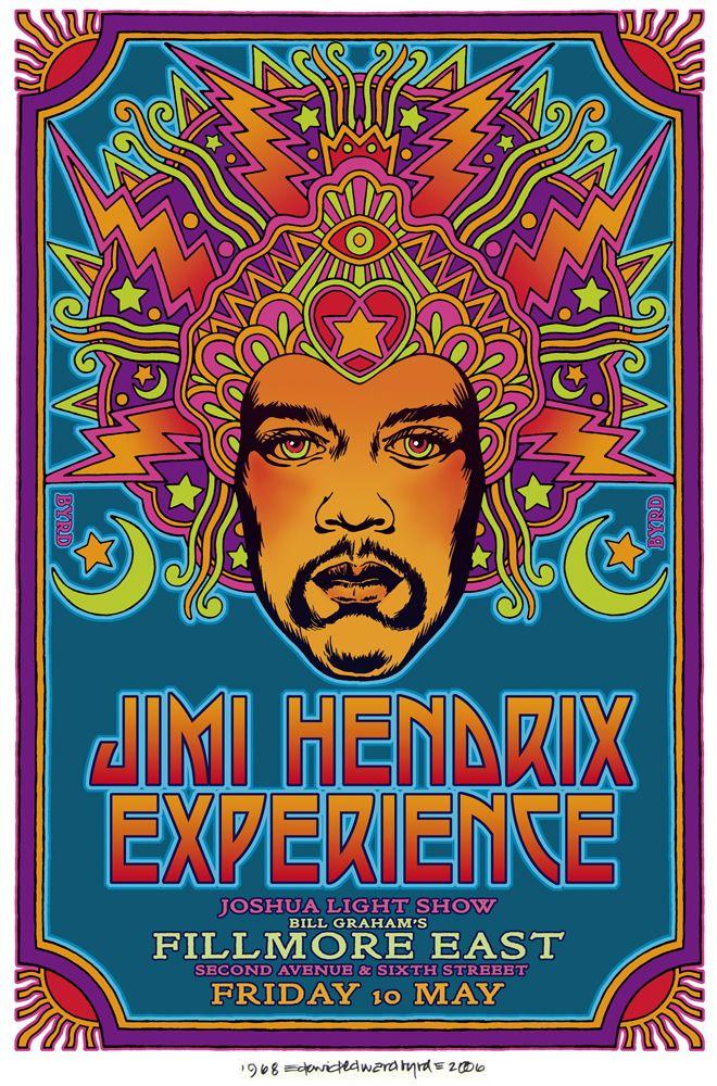 Fillmore East '68 poster #jimihendrix #poster