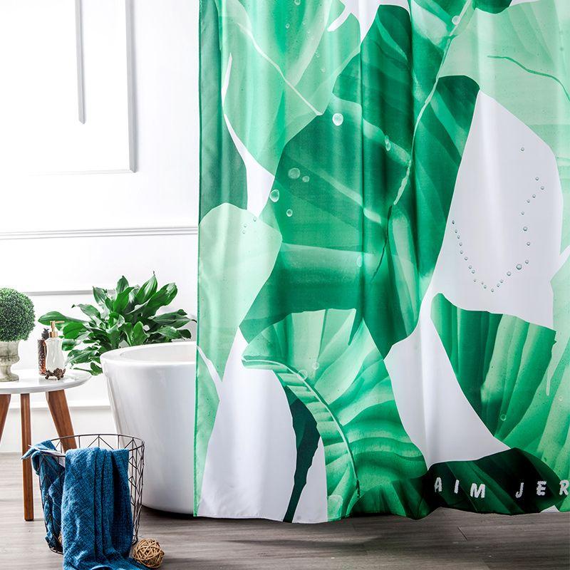 78 Inch Extra Long Green Bathroom Fabri Rustic Shower Curtain