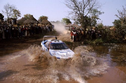 Ari Vatanen Submerging His Peugeot 405 T16 Gr During The 1989