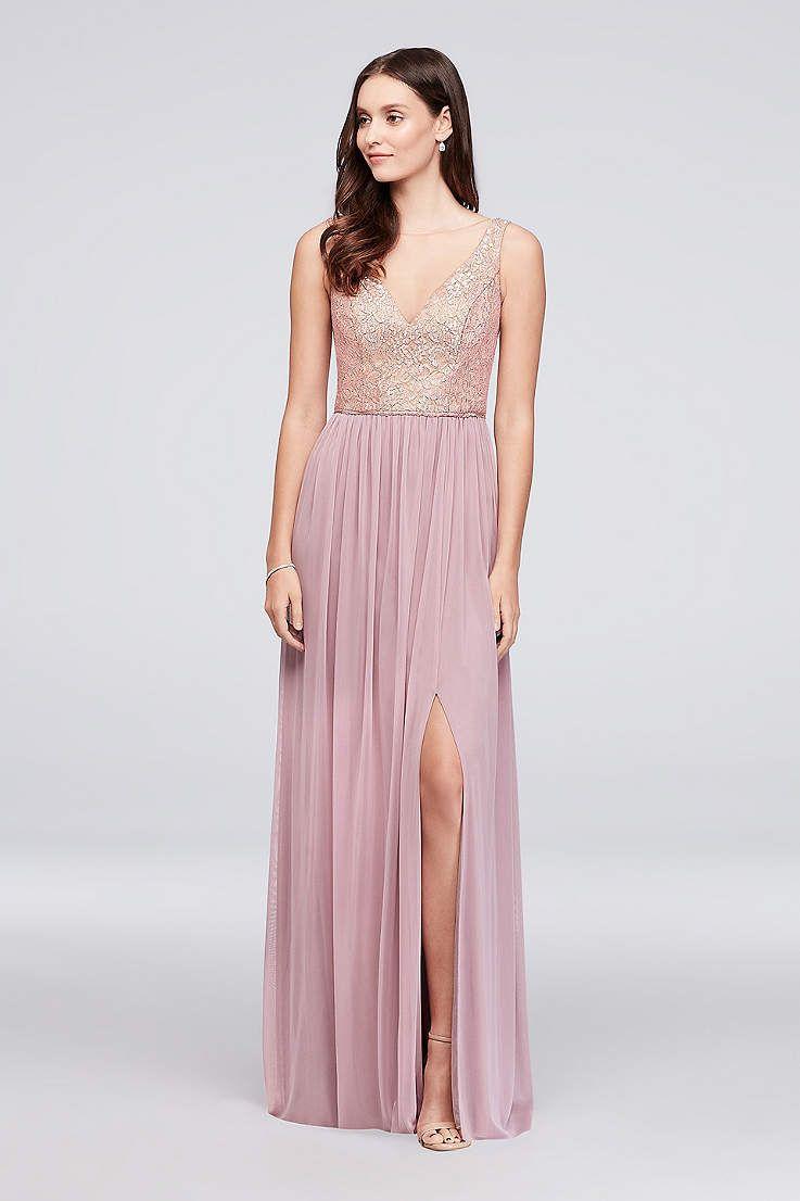 View Romantic Tank V Neck Bridesmaid Dress at David\'s Bridal ...