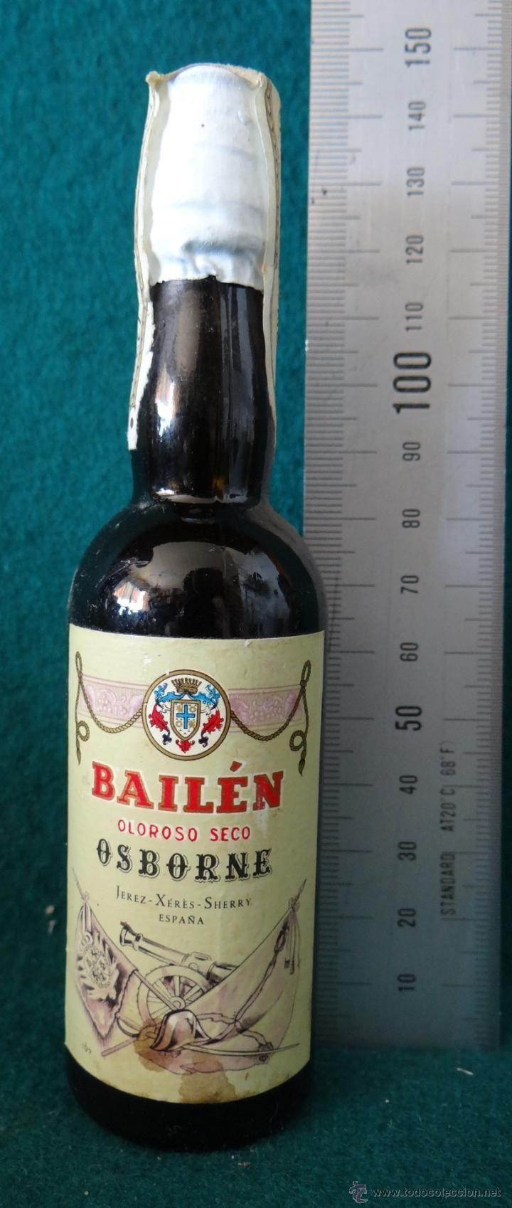 Compro Botellas De Vino Antiguas Botellin Bailen Oloroso Seco Osborne Jerez Botellas De