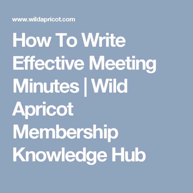 How To Write Effective Meeting Minutes with Templates and Examples ...