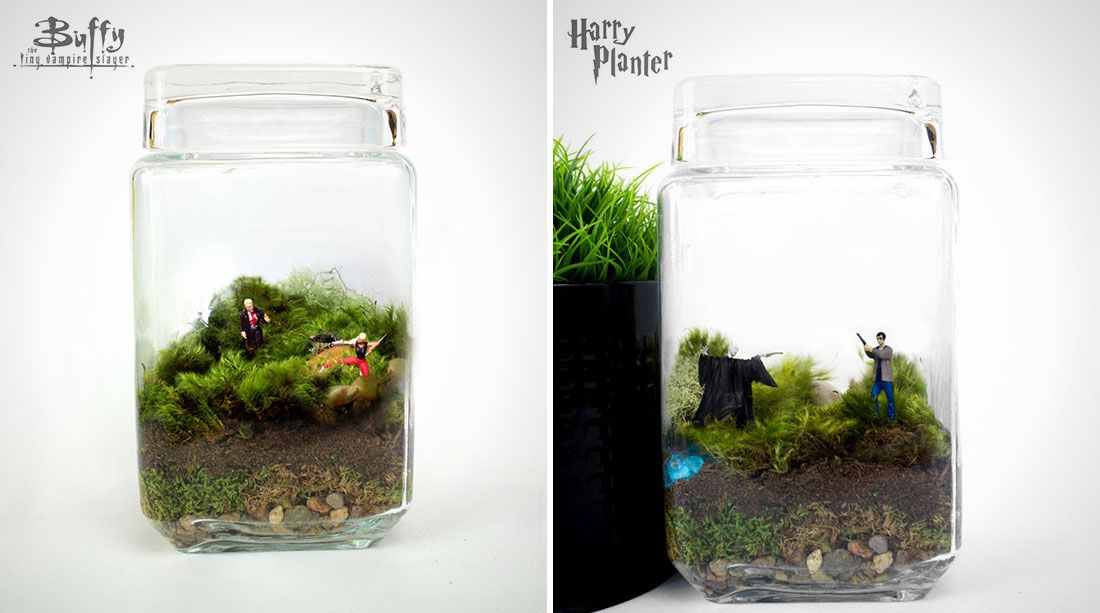 Nerd Alert: These Moss Terrariums Depict Scenes From Movies #scenesfrommovies