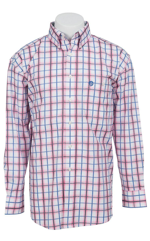seleccione para genuino más baratas comprar George Strait by Wrangler Long Sleeve Mens Plaid Shirt ...