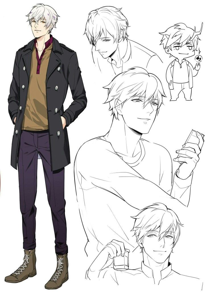 Anime Male Character Concept Art