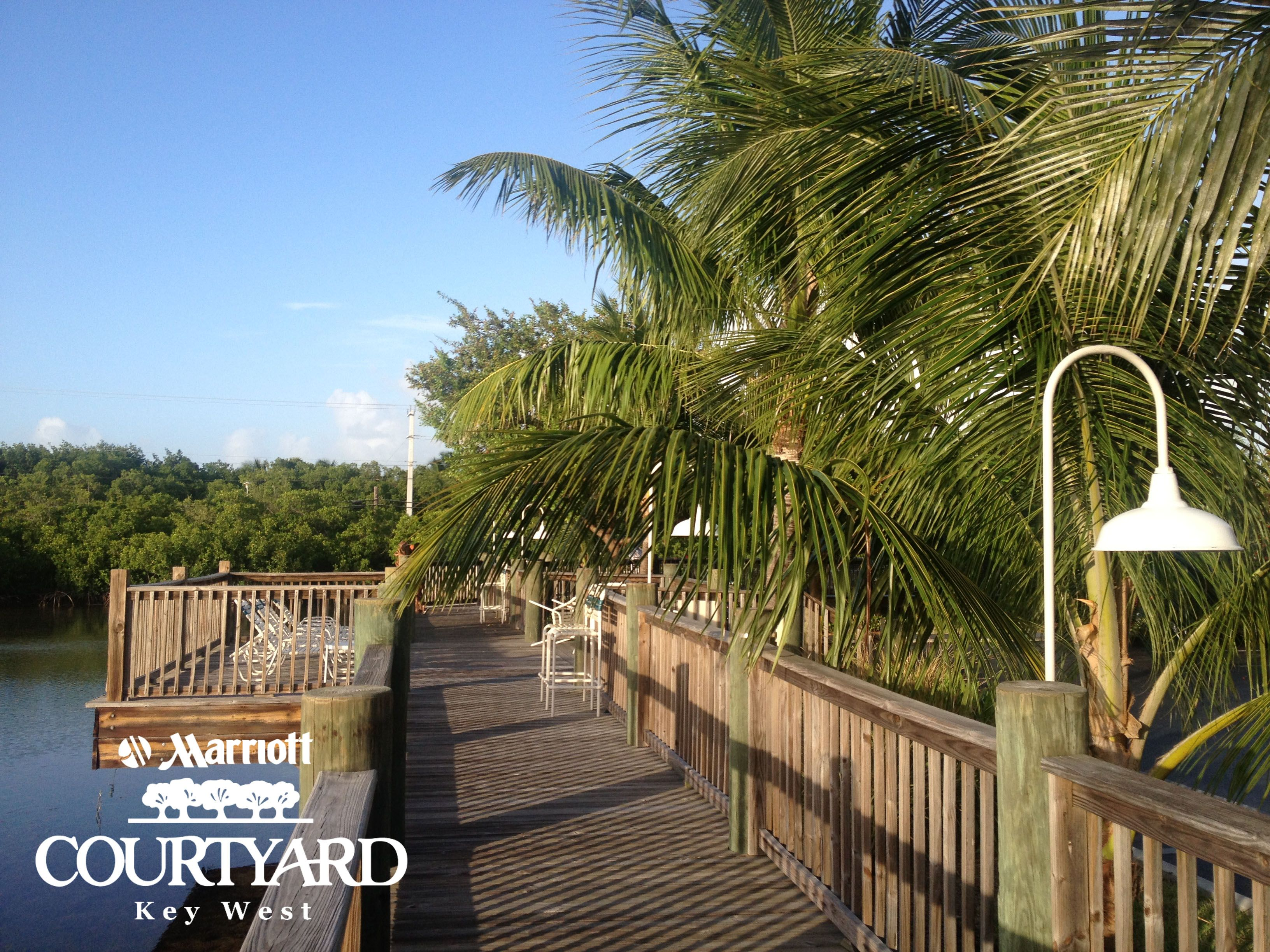 The 300ft boardwalk at the #MarriottCourtyardKeyWest is perfect for afternoon strolls or to watch the sunset! #DreamKeyWestVacation Sweepstakes
