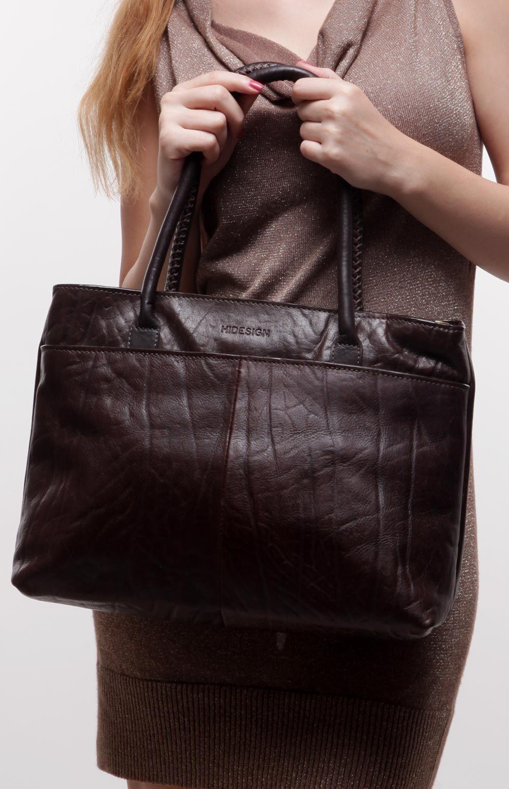 Hidesign Women Girls Handbags Yangtze 02 Ele Ranch Brown   The Big ... 4d93a37814