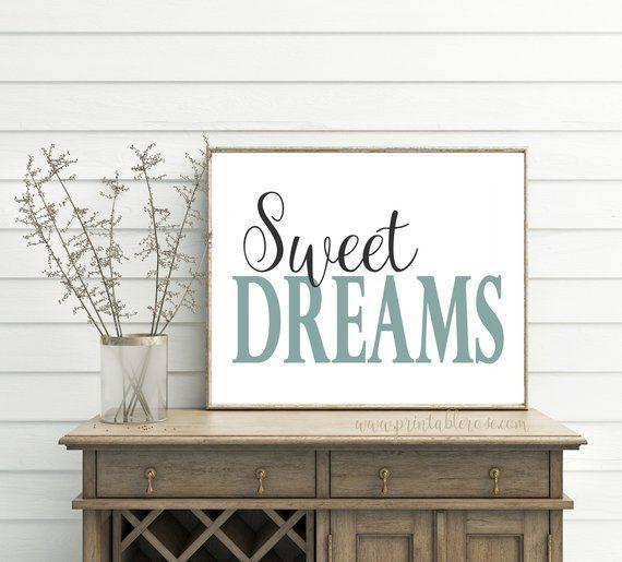 Best Sweet Dreams Printable Sweet Dreams Print Bedroom Wall 400 x 300
